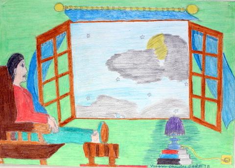 Pinturas de escenas o acciones imaginadas. Técnica: làpices de colores