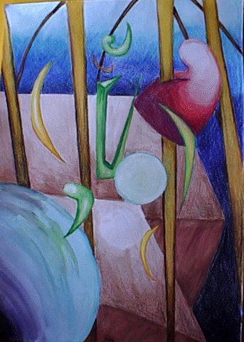 Abstracción. Técnica mixta. Estudio del arte no figurativo