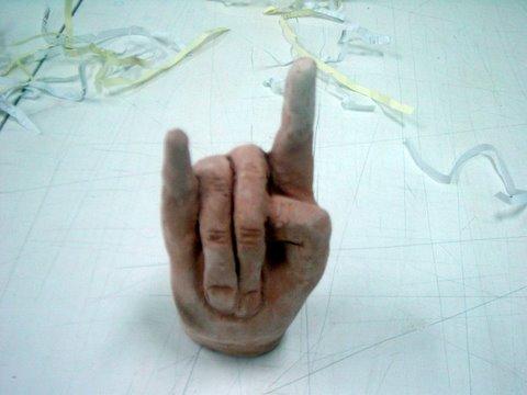 Volumen. Arcilla cocida. Conociéndose  a uno mismo. La mano y sus articulaciones.