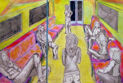 Paisaje virtual. Figura humana. Proporciones. Perspectiva. Técnica mixta